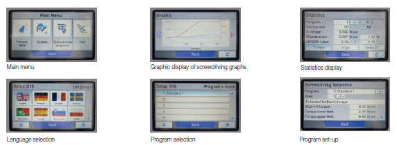 Deprag Screwdriver Programing Displays